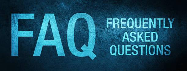 ilustraciones, imágenes clip art, dibujos animados e iconos de stock de faq preguntas frecuentes sobre el fondo especial del banner azul - faq