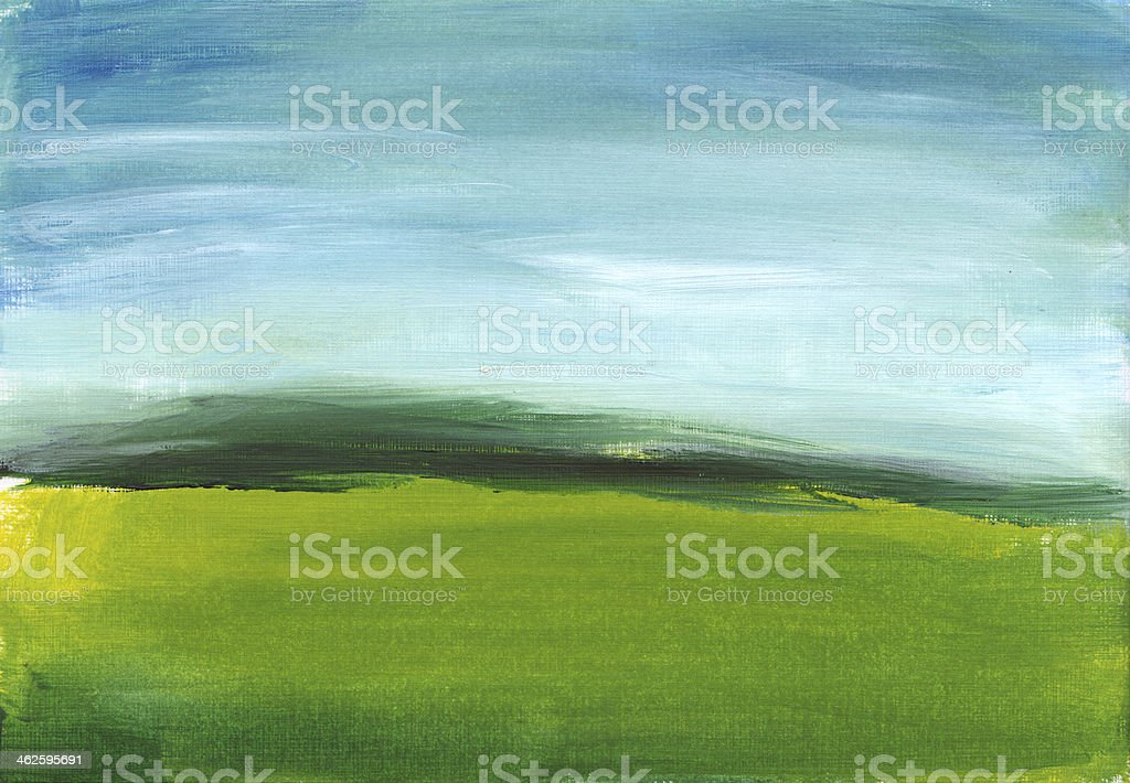 Fresh Green and Blue Painting royalty-free fresh green and blue painting stock vector art & more images of acrylic painting