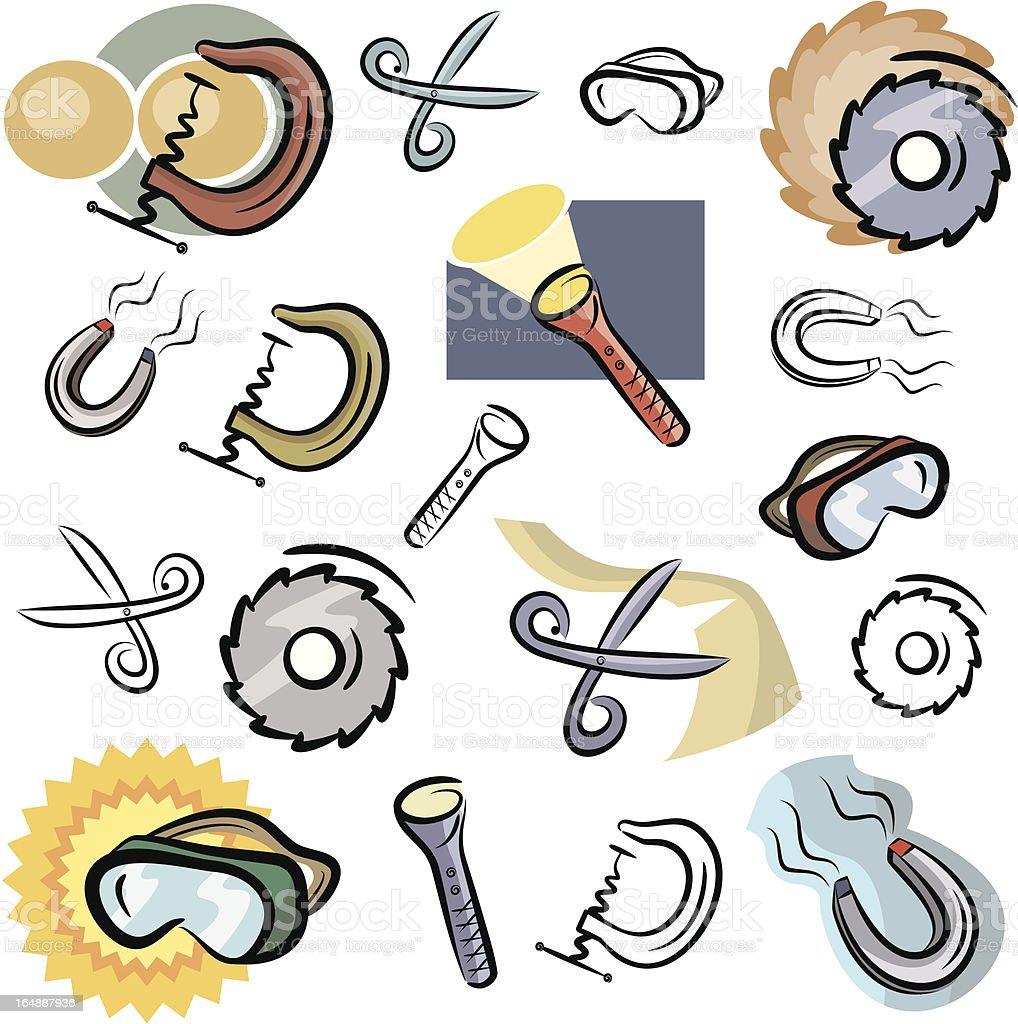 Fresh Icons: Tool Icons V (Vector) royalty-free stock vector art