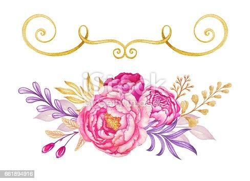Pink Rose Drawing Fresh Pink Peony Garla...