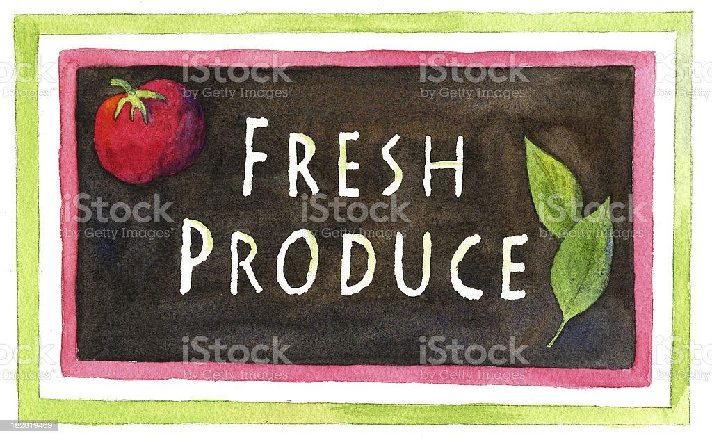 Fresh Produce Farm Sign royalty-free stock vector art