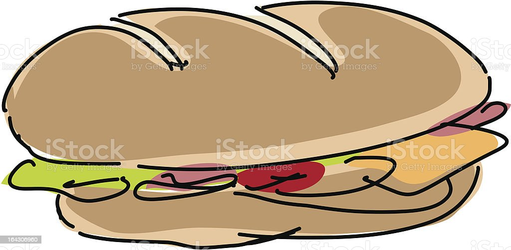 Fresh sandwich illustration, hand-drawn lineart sketch look royalty-free fresh sandwich illustration handdrawn lineart sketch look stock vector art & more images of 7-grain bread