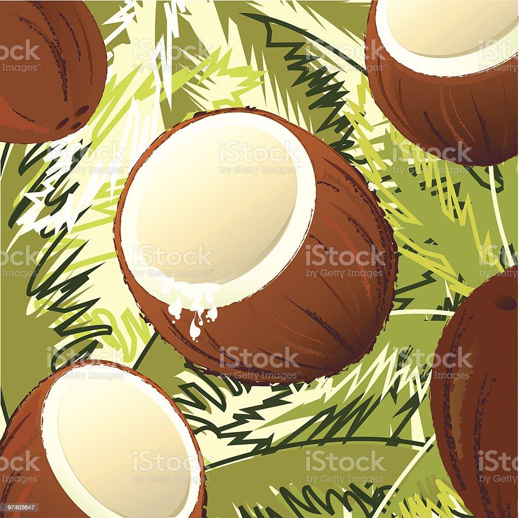 Fresh Taste of Coconut royalty-free fresh taste of coconut stock vector art & more images of backgrounds
