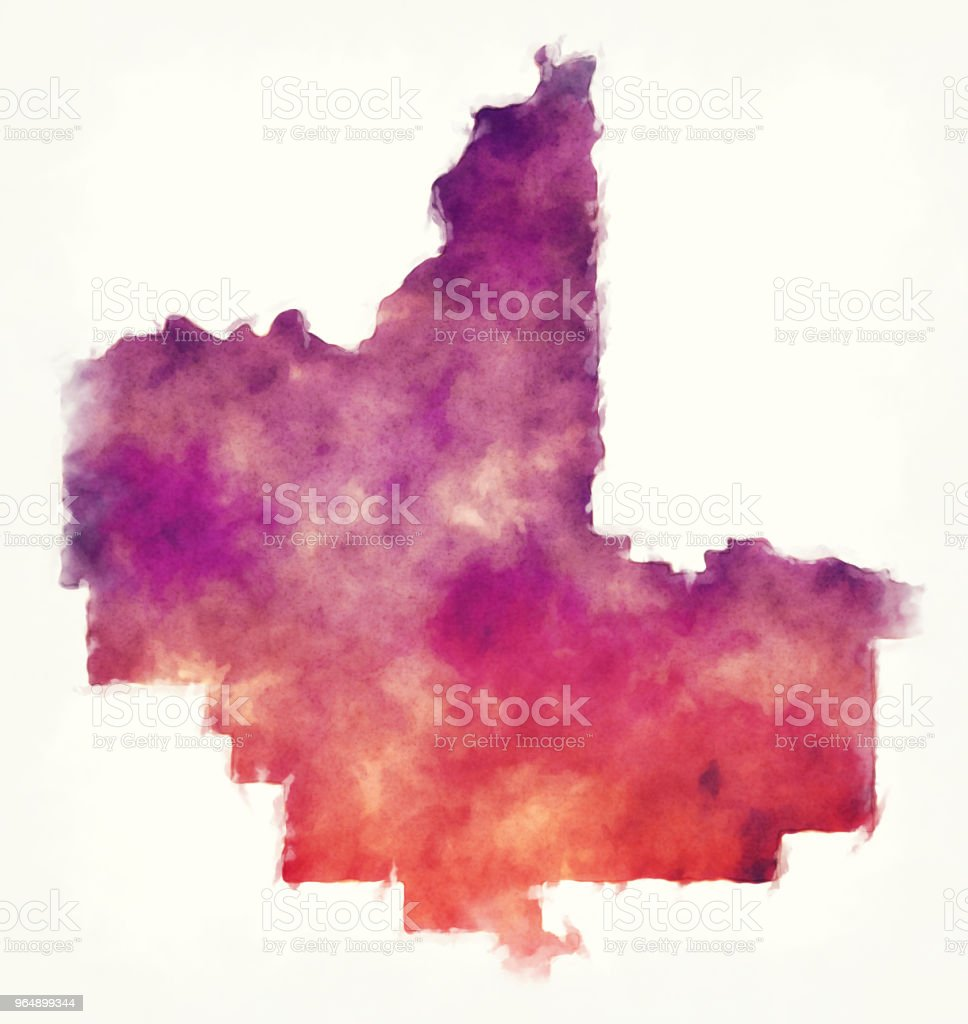 Fresno California city watercolor map in front of a white background royalty-free fresno california city watercolor map in front of a white background stock vector art & more images of abstract