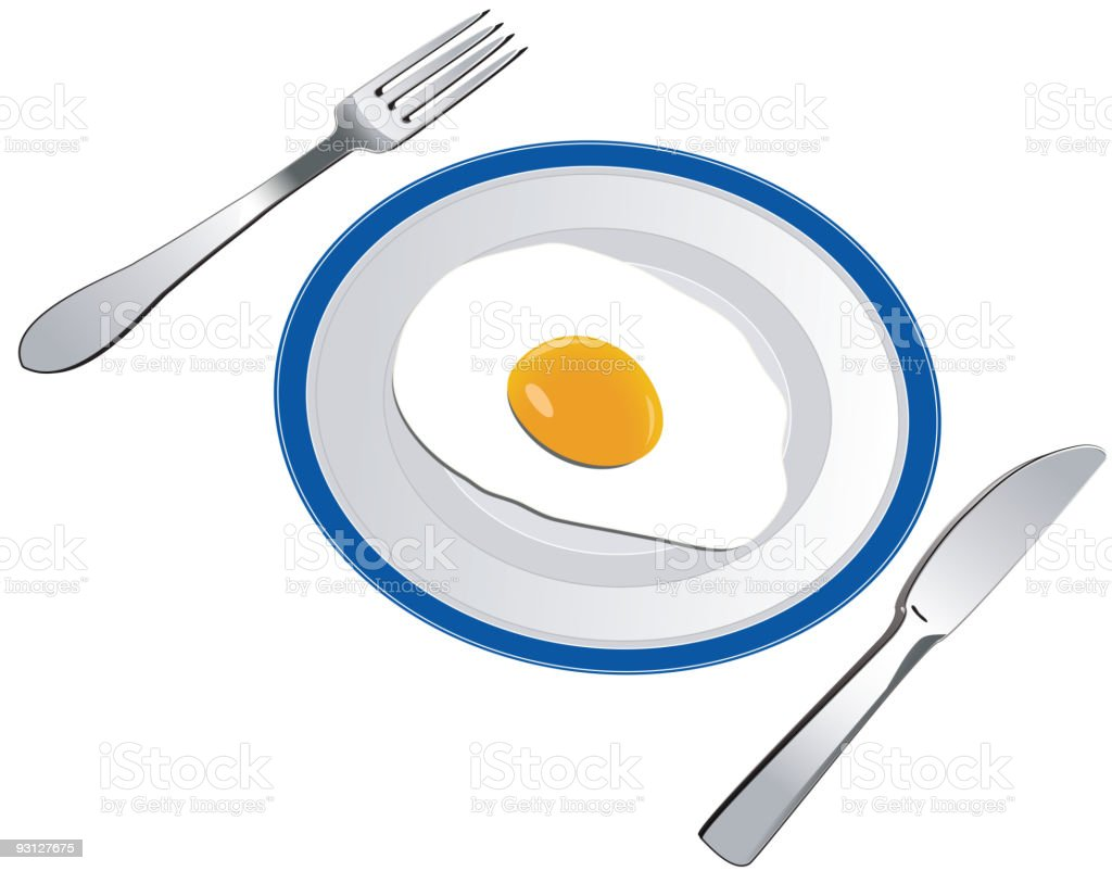 Fried egg royalty-free stock vector art