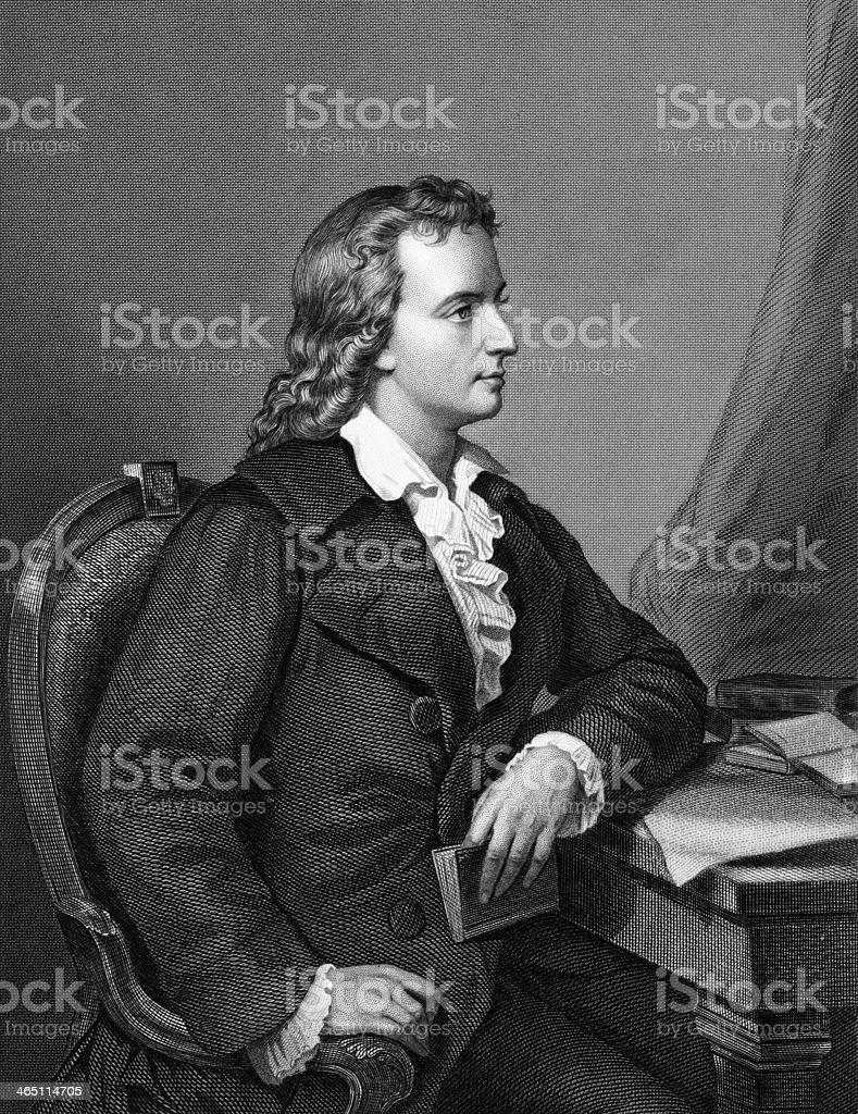 Friedrich Schiller royalty-free stock vector art