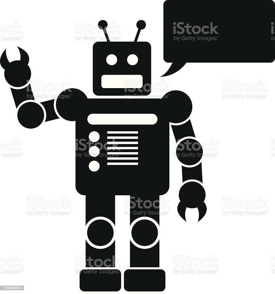 friendly robot royalty-free stock vector art