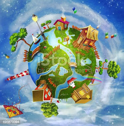 istock Friendly small Planet 495873394