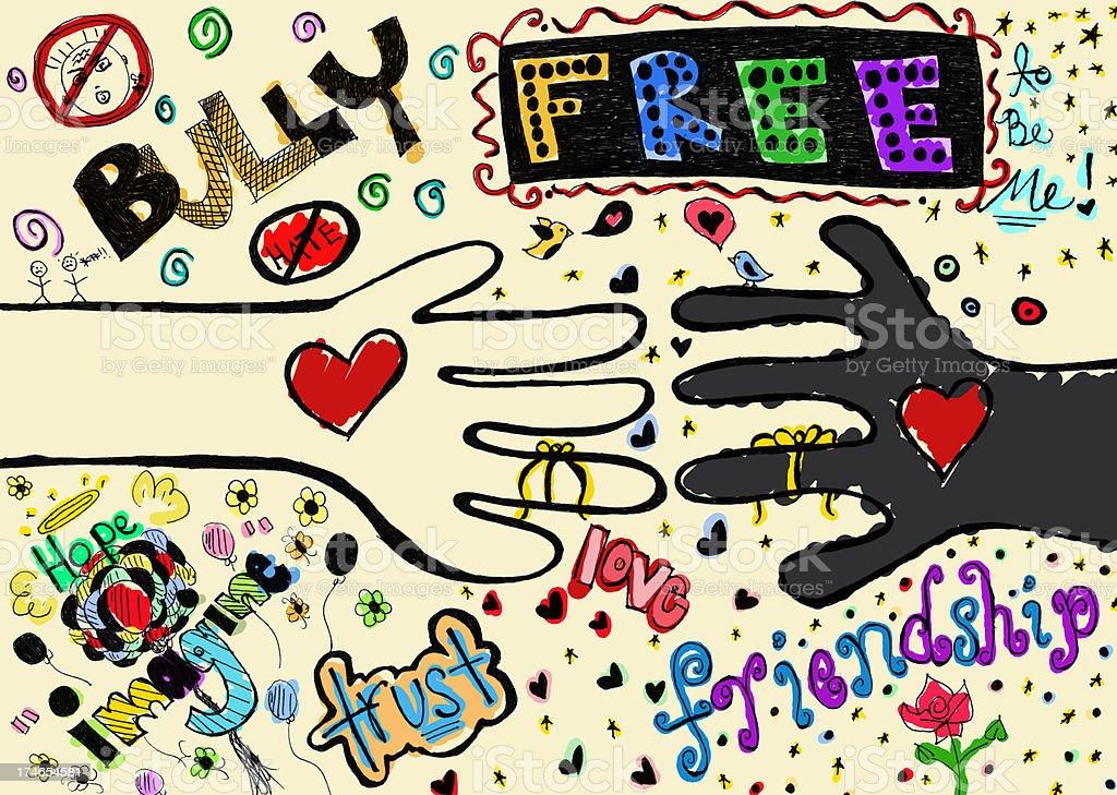 royalty free anti bullying symbol drawing clip art vector images rh istockphoto com anti bullying clip art free Hero Anti-Bullying