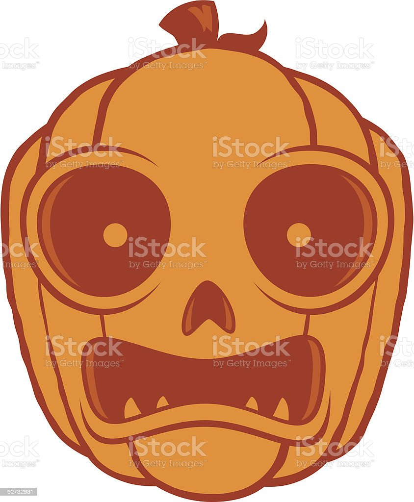 Frightened Halloween Jack O Lantern Stock Vector Art ...