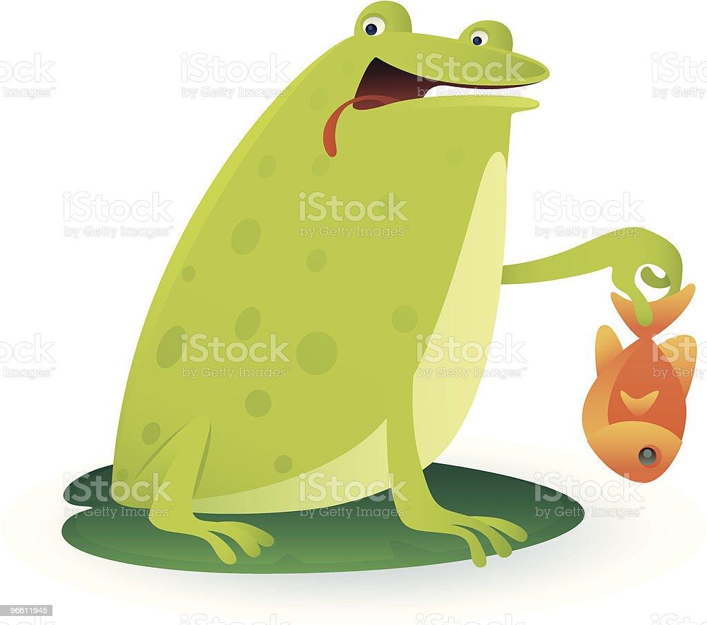 frog and fish - Royaltyfri Dag vektorgrafik