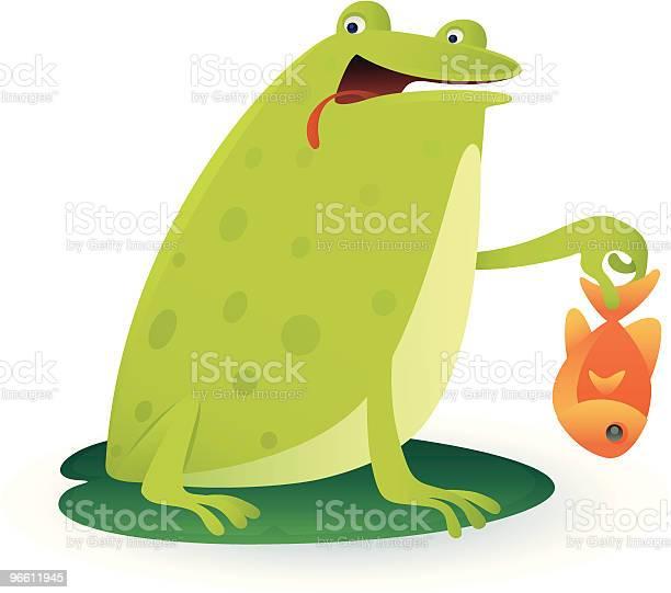 Frog And Fish-vektorgrafik och fler bilder på Dag