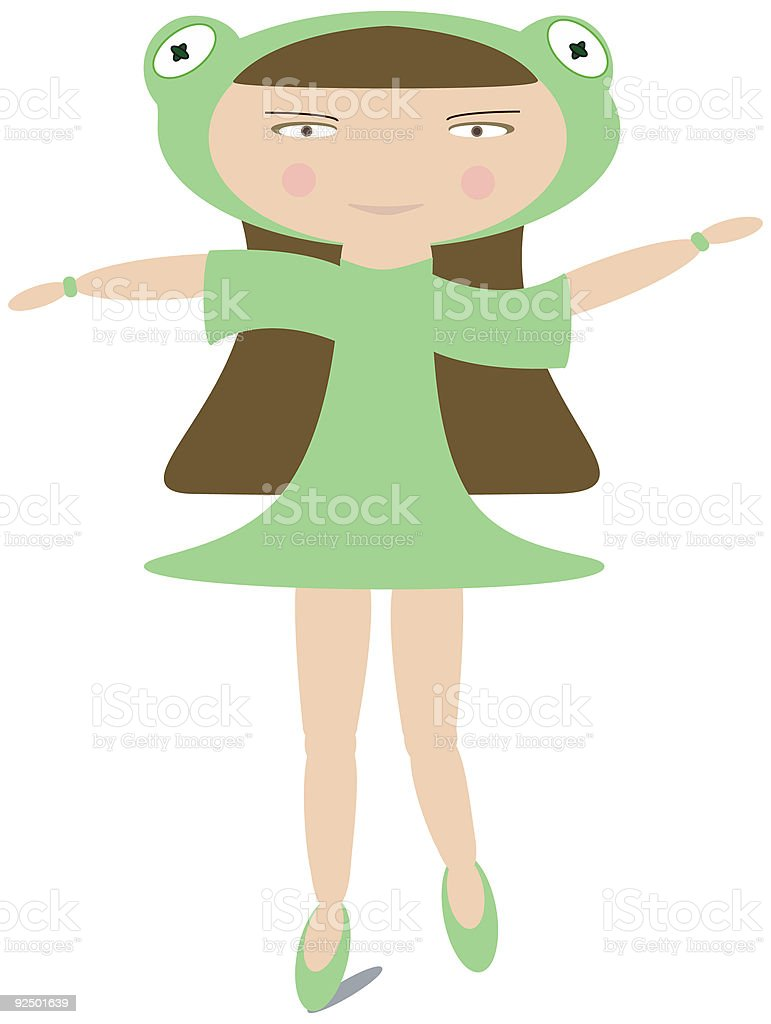 Frog Girl royalty-free frog girl stock vector art & more images of amphibian