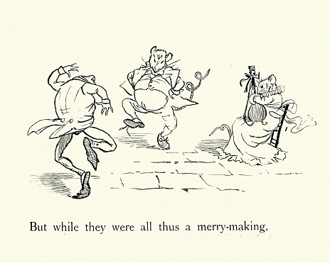 Frog He Would A-Wooing Go, nursery rhyme, Rat and frog dancing