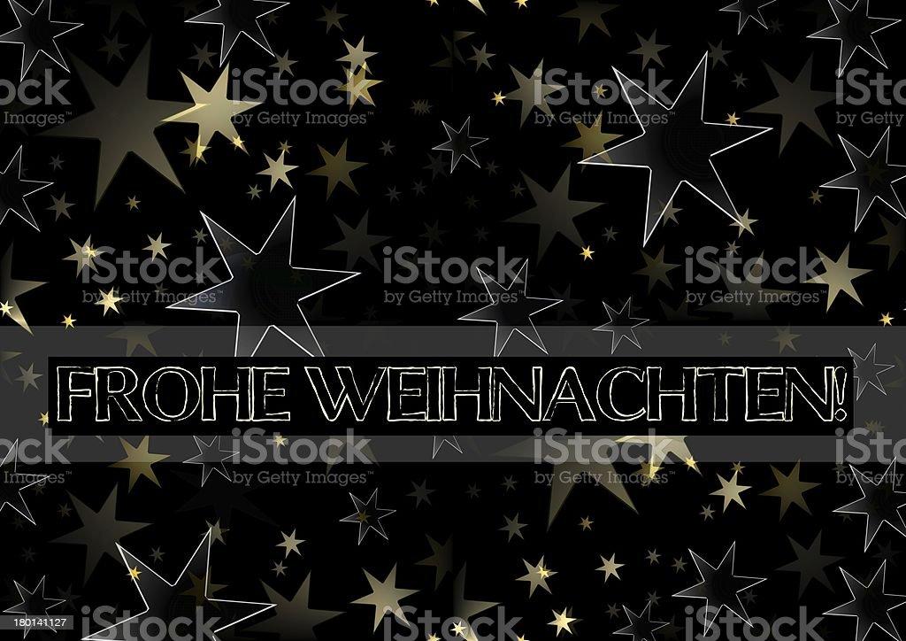 Frohe Weihnachten - Merry Christmas in german royalty-free stock vector art