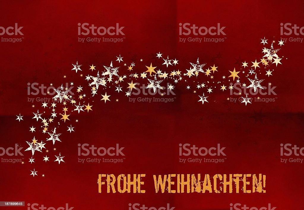Frohe Weihnachten Download.Frohe Weihnachten Merry Christmas In German Stock Illustration