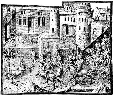 istock From the life of the 15th century in France, reception of a king and his retinue in a castle 1279668564