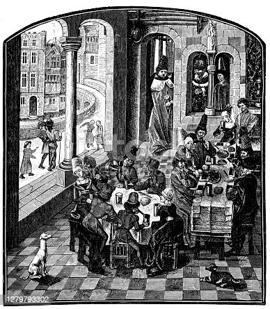 istock From the sociable life in the 2nd half of the 15th century 1279793302