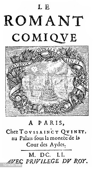 Illustration of a Front page of the first edition of the 1st volume of the comic novel