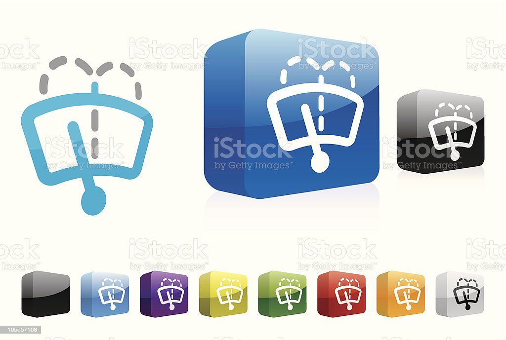 Front Wash   3D Collection royalty-free stock vector art