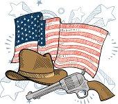 US Frontier items sketch