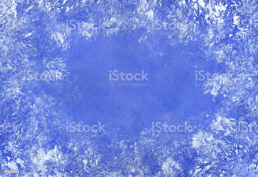 Frosted Blue Frame vector art illustration