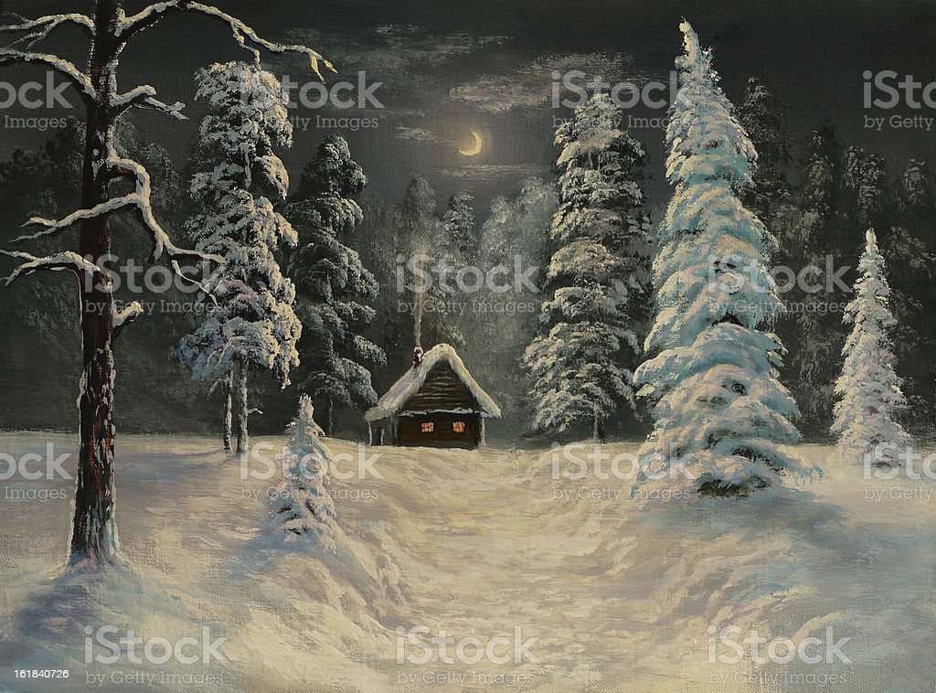 frosty night royalty-free frosty night stock vector art & more images of art