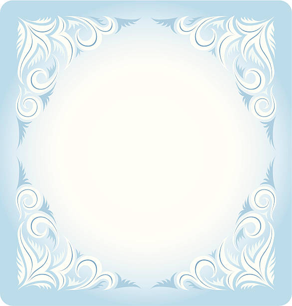 Frozen crystals vector art illustration
