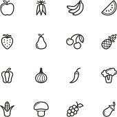 Fruit and Vegetable Icons