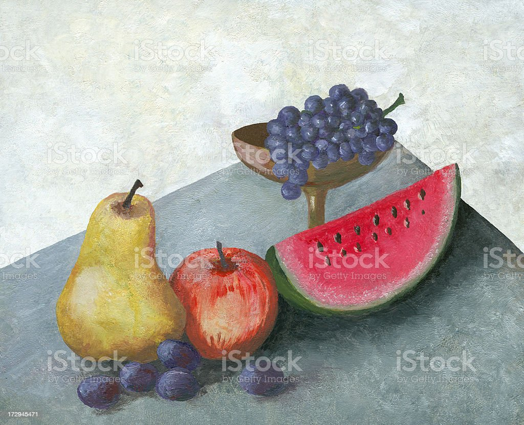 Fruit Arrangement royalty-free stock vector art
