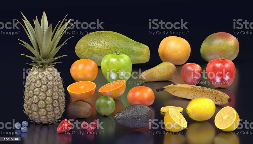 fruit collection 免版稅 fruit collection 向量插圖及更多 士多啤梨 圖片