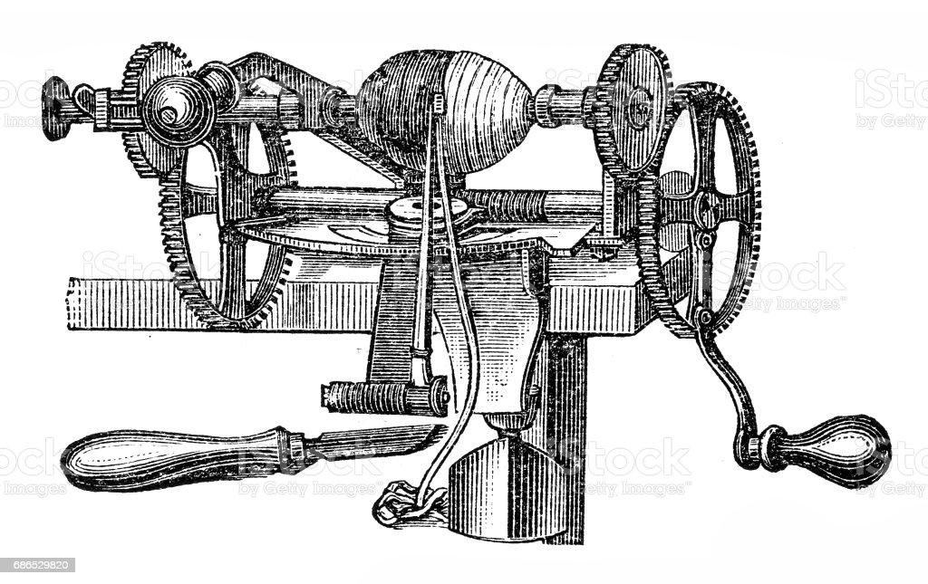 Fruit peeler tool vector art illustration