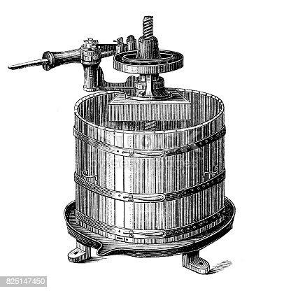 illustration of fruit press