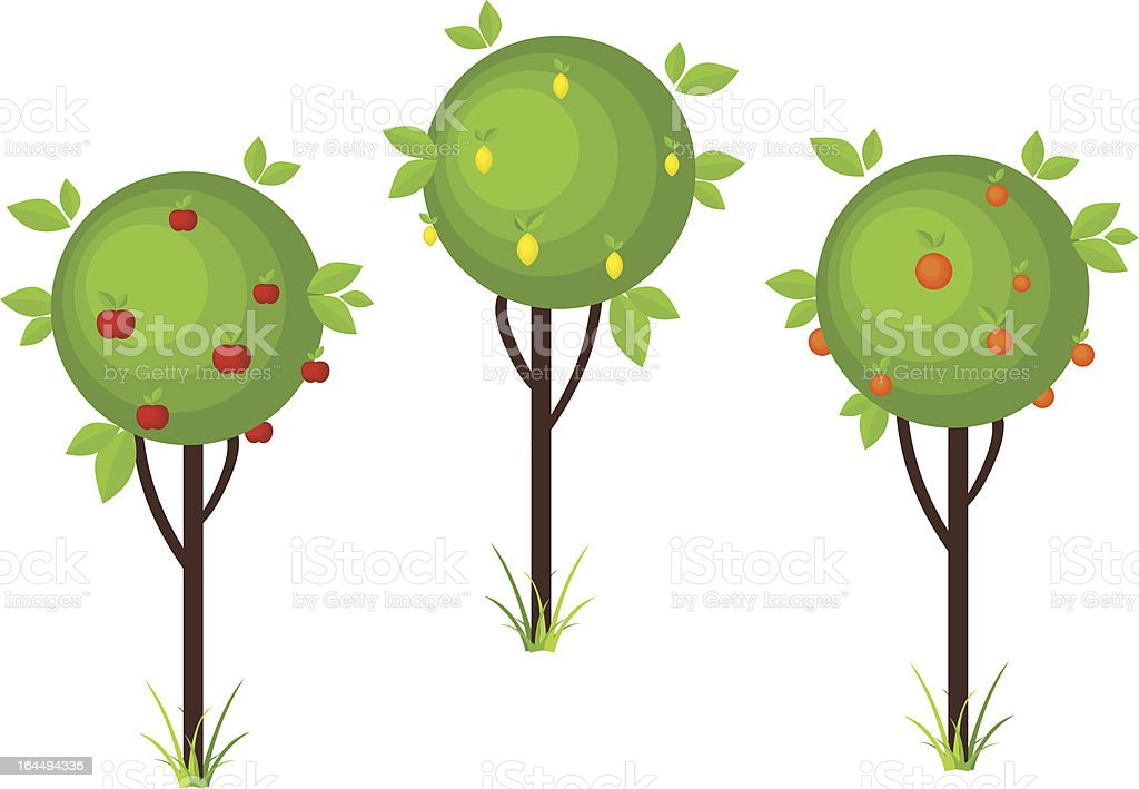 Fruit tree icons royalty-free fruit tree icons stock vector art & more images of abstract