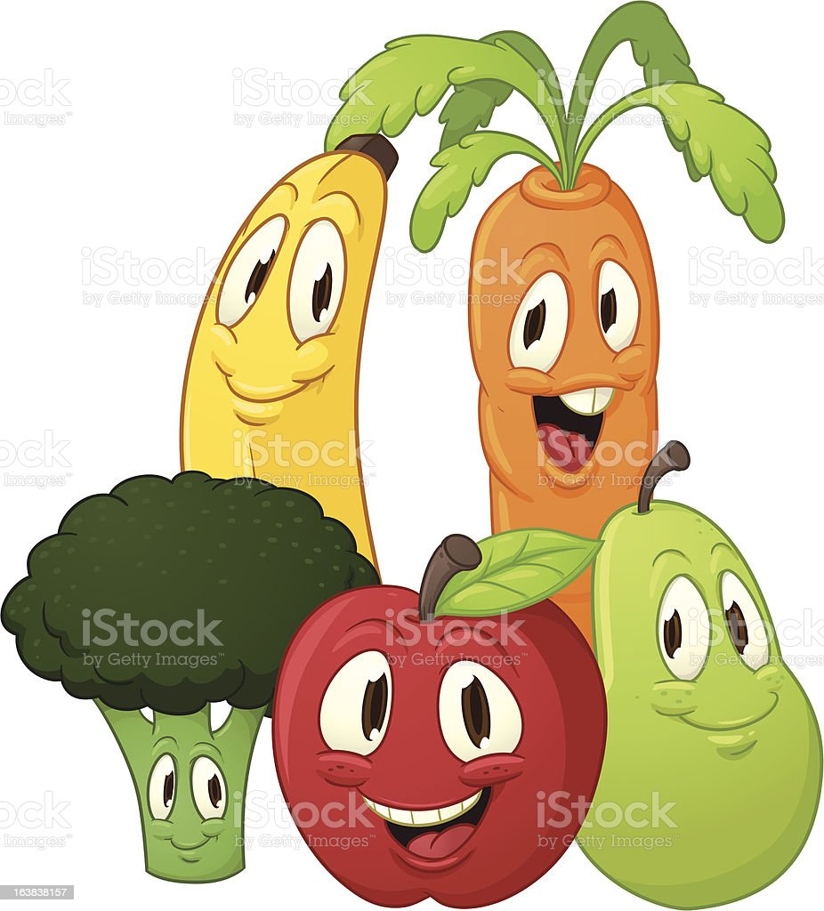 Fruits and vegetables royalty-free stock vector art
