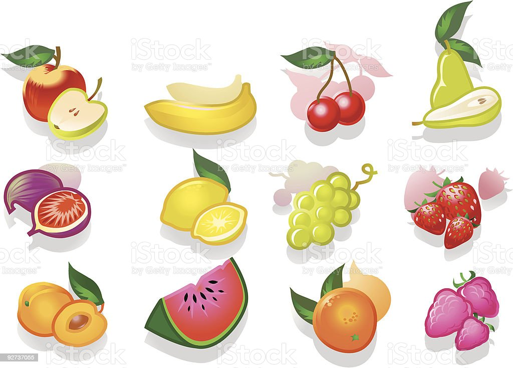Fruits  Apple - Fruit stock vector