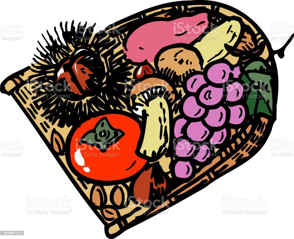 Fruits d'automne fruits dautomne – cliparts vectoriels et plus d'images de aliments et boissons libre de droits