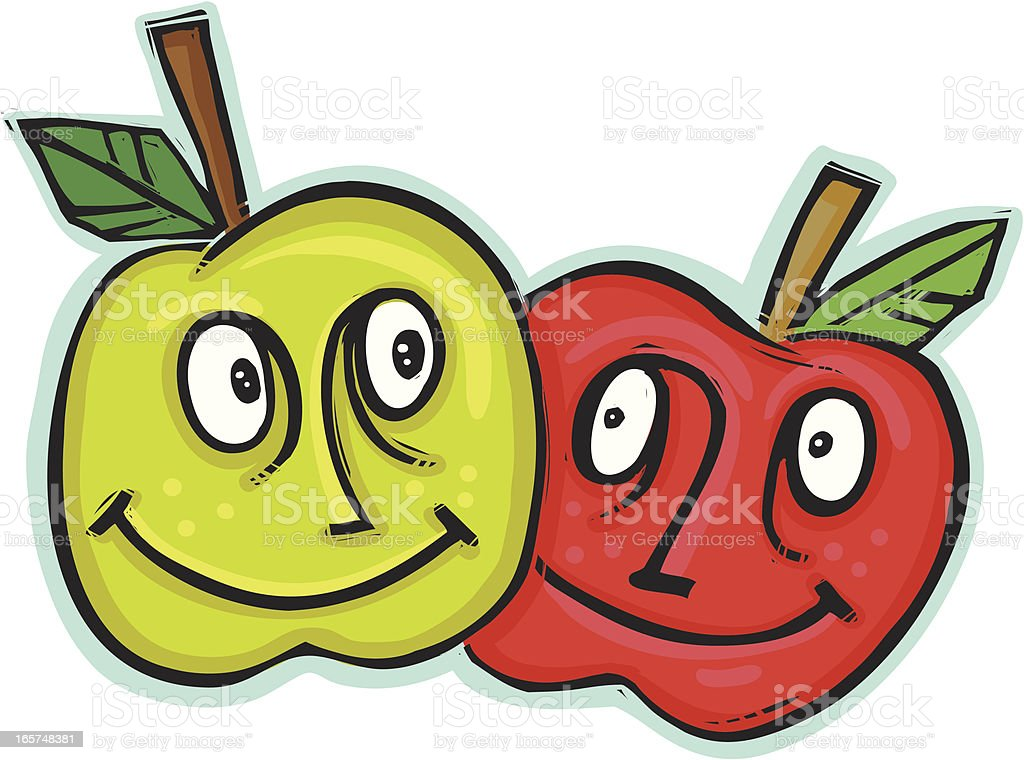 Fruity Friends royalty-free stock vector art