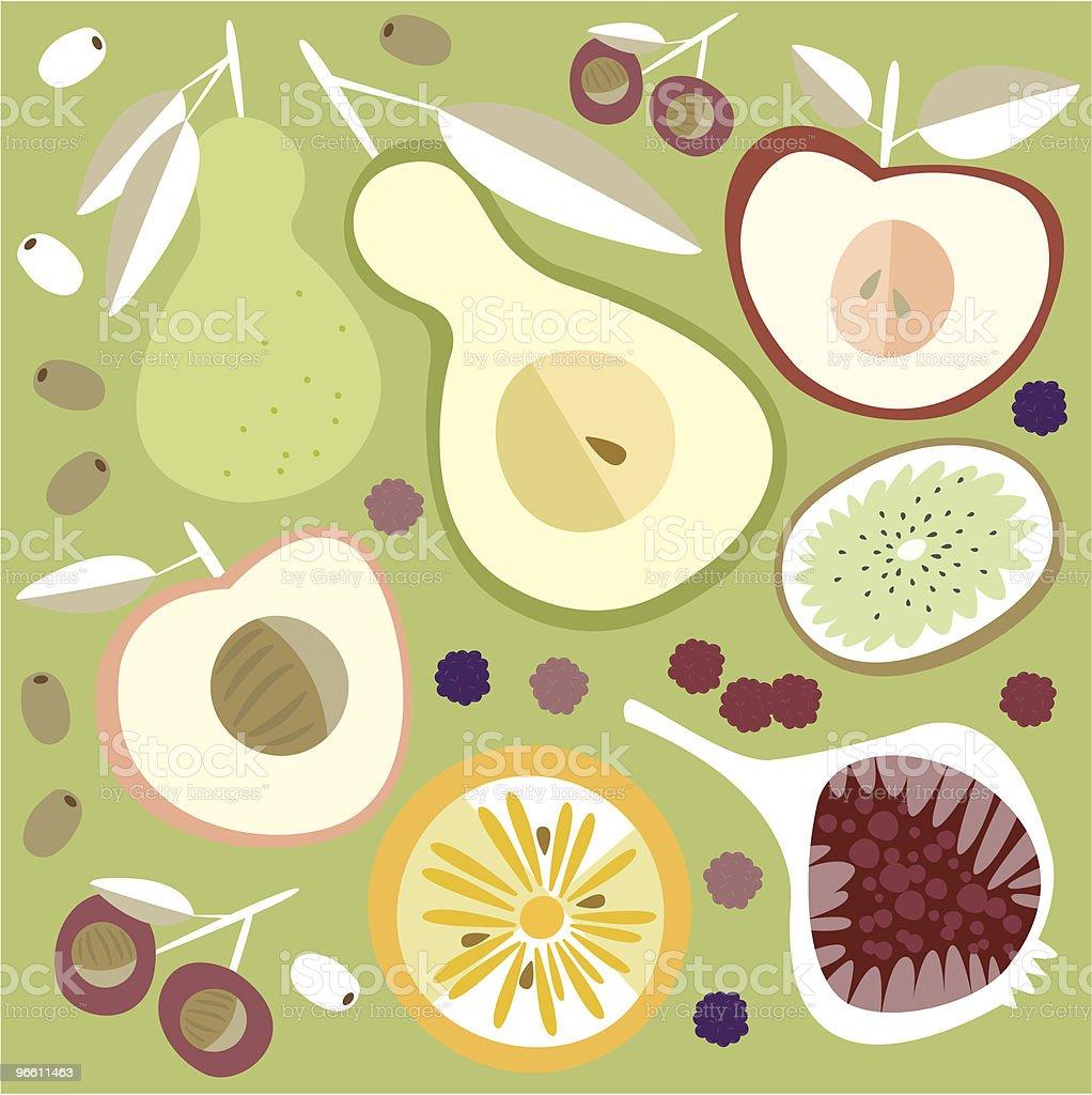 fruity wallpaper - Royaltyfri Fikon vektorgrafik