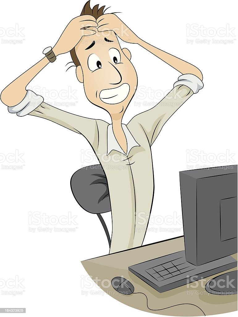 Frustrated Man royalty-free stock vector art