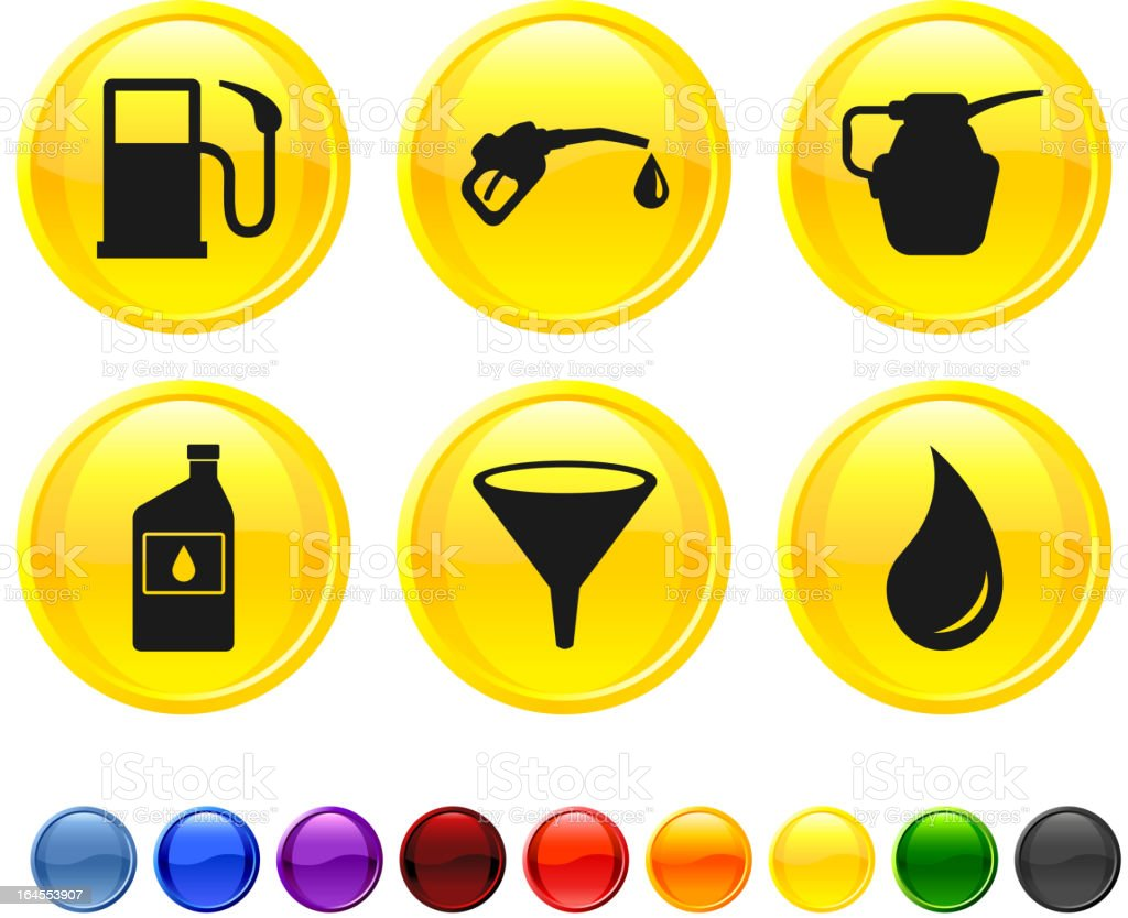 fuel royalty free vector icon set royalty-free stock vector art