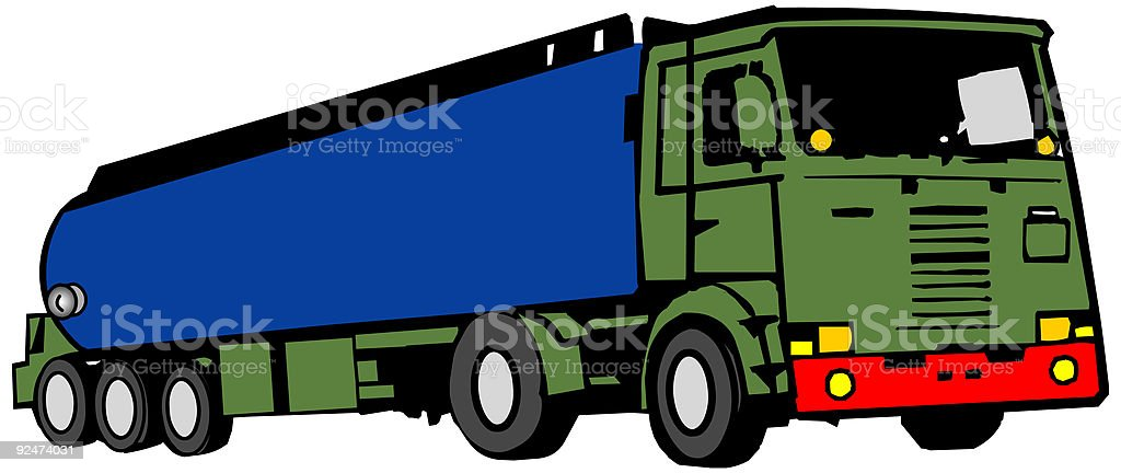 Fuel truck, cistern, car - vector royalty-free stock vector art