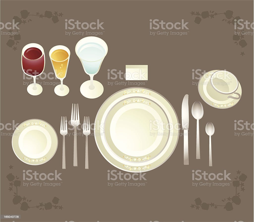 full etiquette placesetting royalty-free full etiquette placesetting stock vector art & more images of alcohol