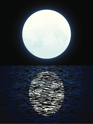 Moon closes in on Saturn tonight, beckons us back to the ...   Full Moon Reflecting Off Water