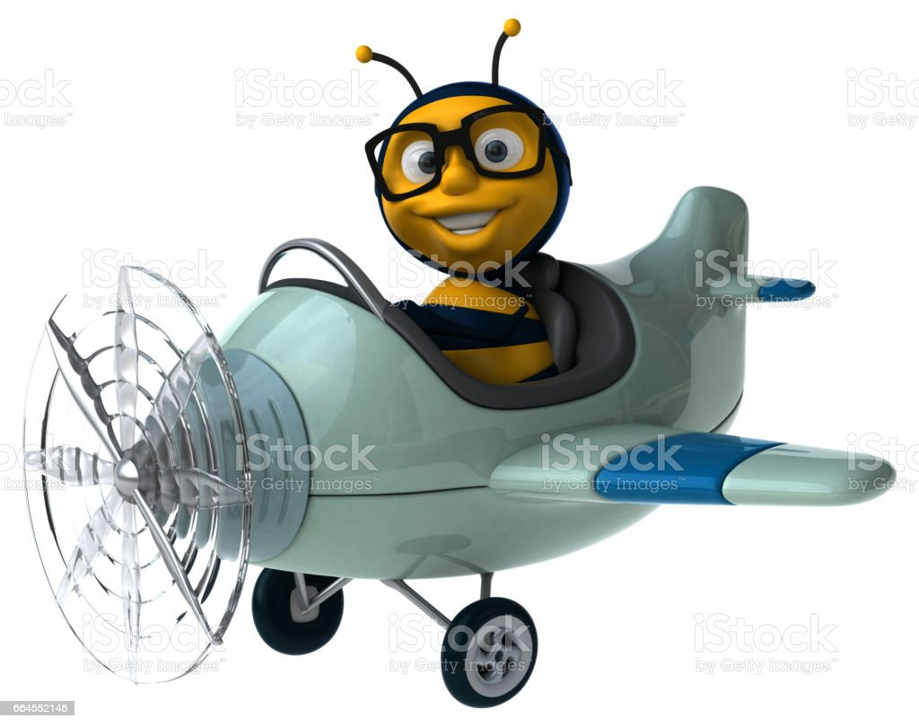 Fun bee royalty-free fun bee stock vector art & more images of airplane