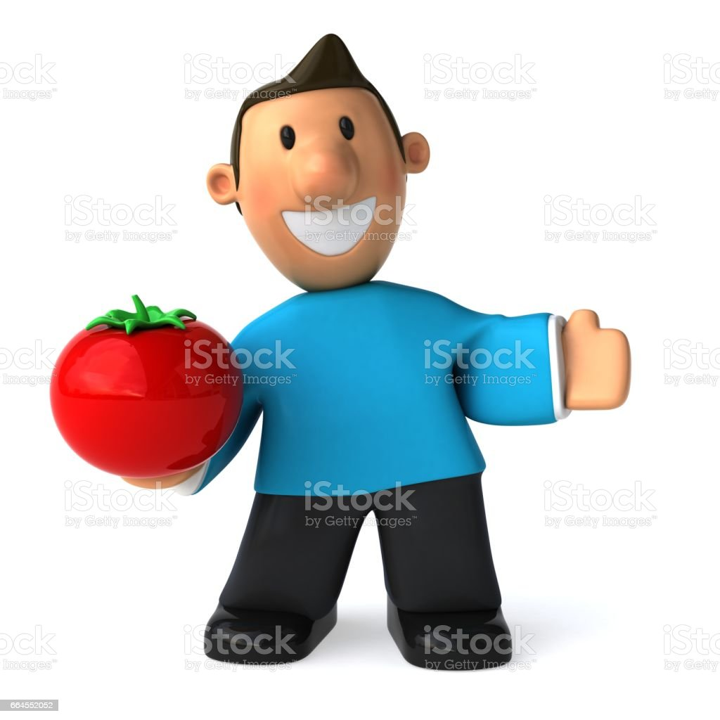 Fun casual man - 3D Illustration royalty-free fun casual man 3d illustration stock vector art & more images of france