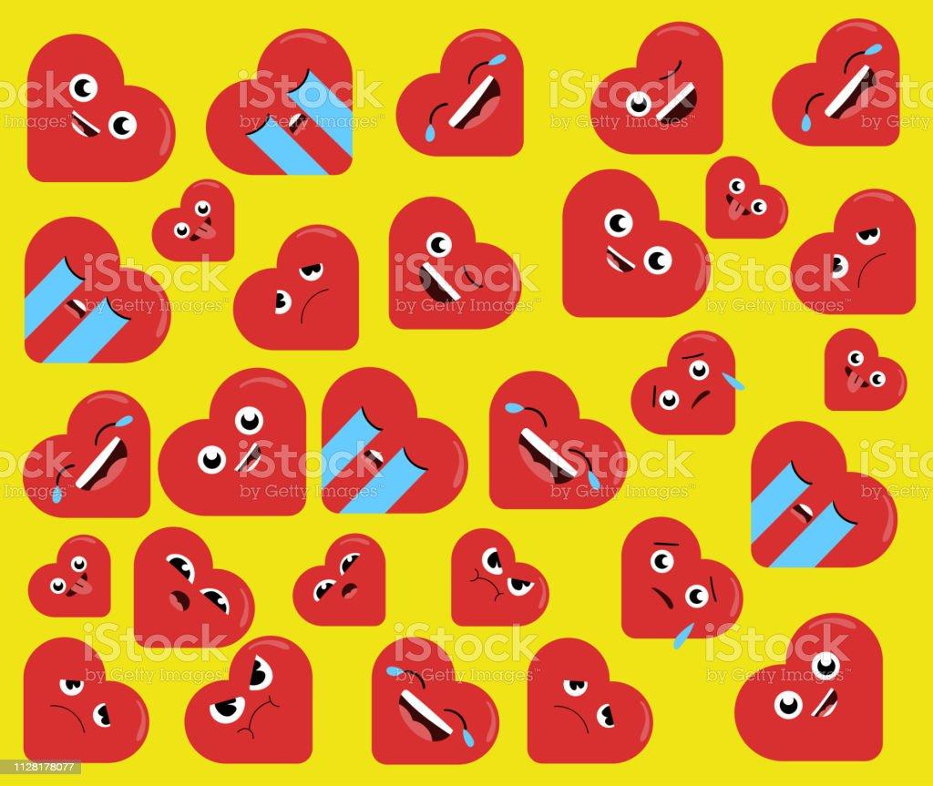 楽しい安い心は数字の背景壁紙ですバレンタインデーのコンセプトです
