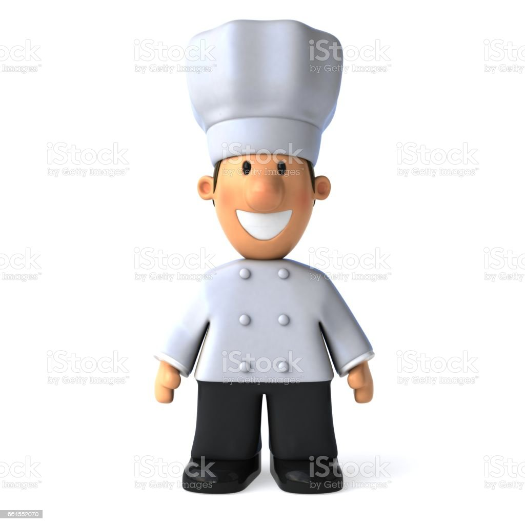 Fun chef - 3D Illustration royalty-free fun chef 3d illustration stock vector art & more images of appetizer