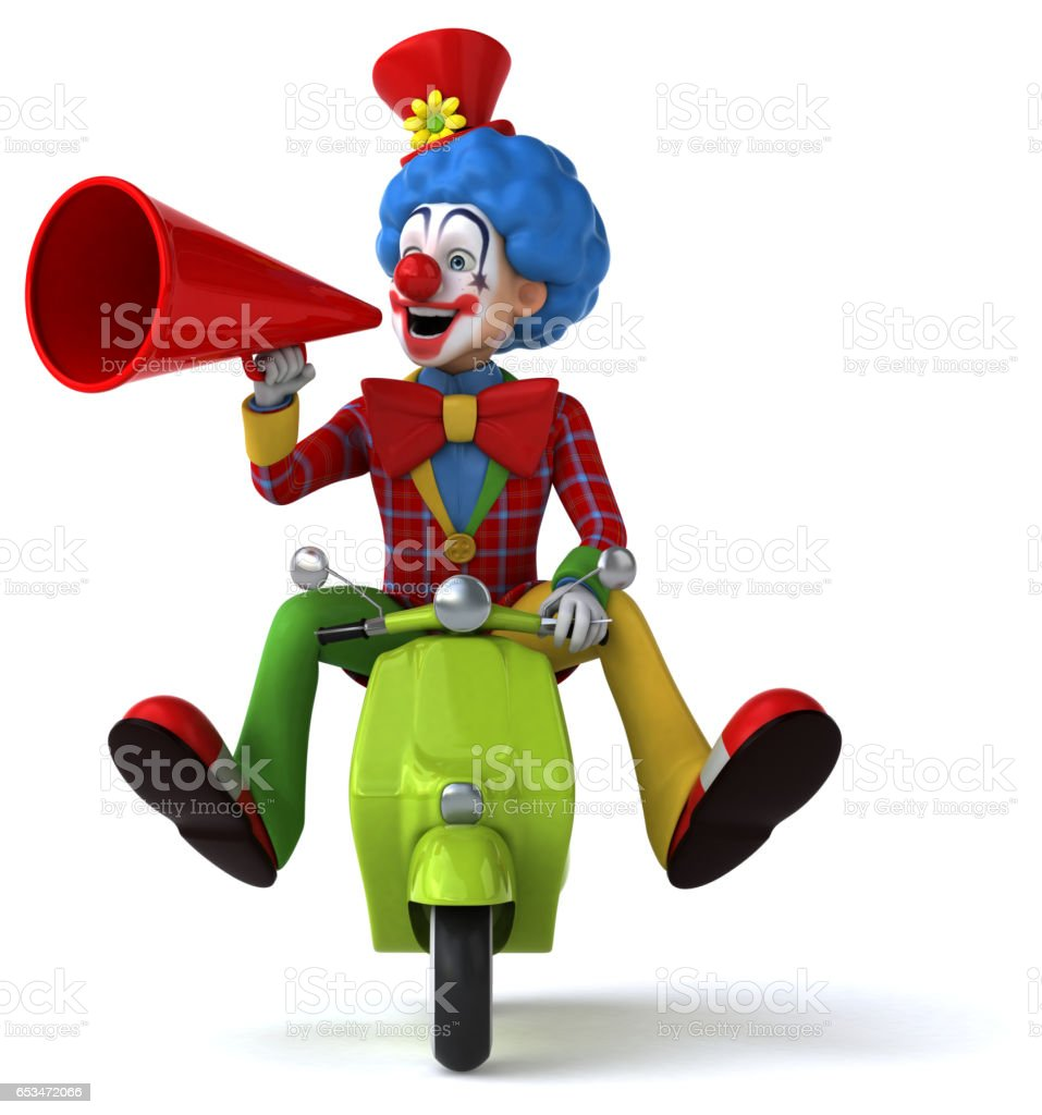 Fun clown vector art illustration