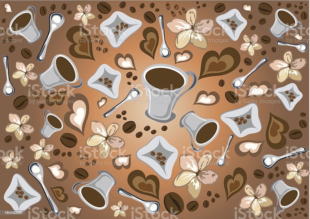 Fun coffee break pattern royalty-free fun coffee break pattern stock vector art & more images of abstract